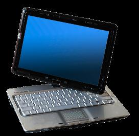 Netbook mit schwenkbarem Bildschirm