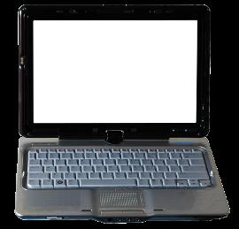 Geöffnetes Netbook in schwarz