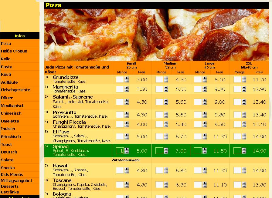 so sieht es aus, wenn man Fastfood online bestellt
