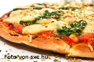 leckere frisch gebackene Pizza für den schnellenHunger