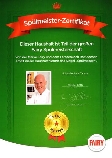 Spülmeister Zertifikat